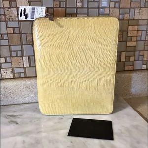 Auth. The ROW $3600 Yellow Lizard Skin IPad Case